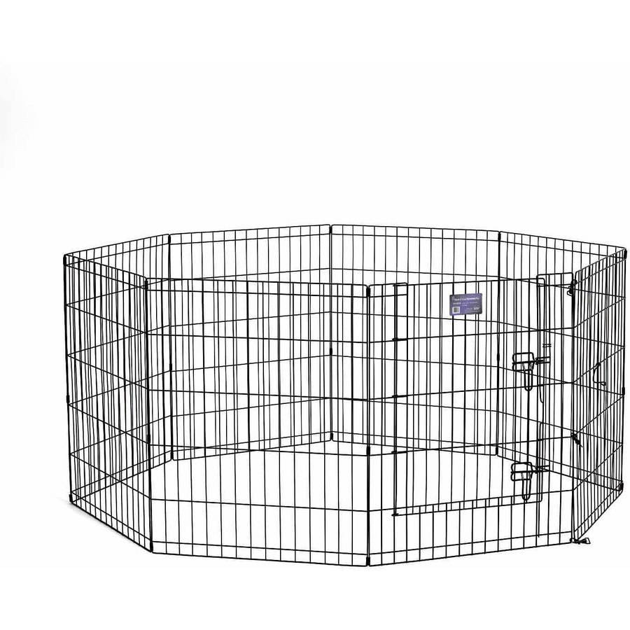 "Midwest 30"" Black Exercise Pen with Door"