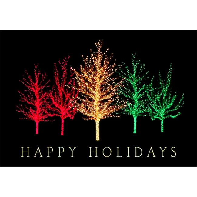 Birchcraft Studios 2466 Vibrant Trees - Gold Lined Envelope with White Lining - Red Ink - Pack of 25 - image 1 de 1