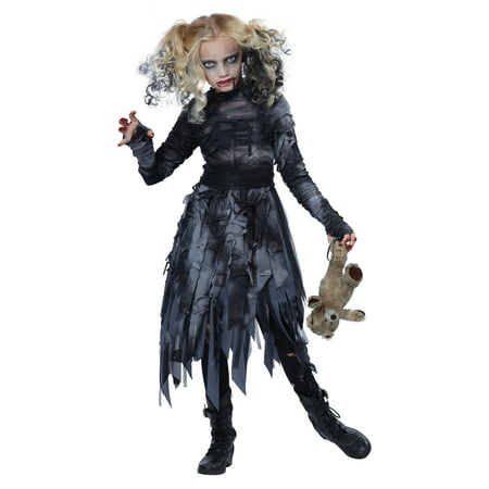 Child Zombie Girl Costume](Zombie Clothes For Kids)
