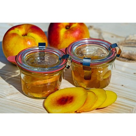 Summer Jam - Canvas Print Summer Preparation Nectarine Cook Stone Fruit Jam Stretched Canvas 32 x 24