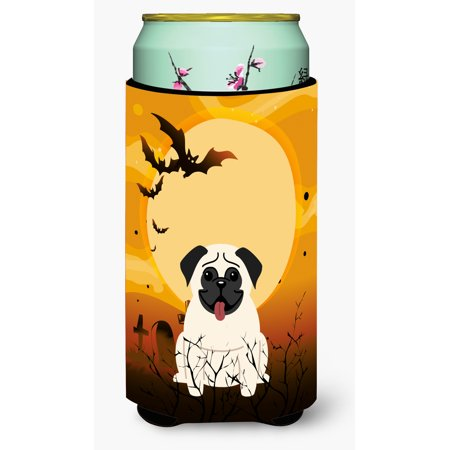 Halloween Pug Cream Tall Boy Beverage Insulator Hugger (Tall Cream)