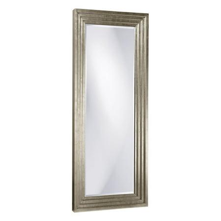 Elizabeth Austin Delano Silver Leaf Oversized Full Length Mirror - 34W x 82H (Oversized Silver Mirror)