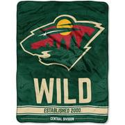 Nhl Minnesota Wild Breakaway 46 X 60 Micro Raschel Throw
