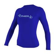 O'NEILL WOMEN'S BASIC 50+ LONG SLEEVE RASH GUARD Tahitian Blue , Size XS