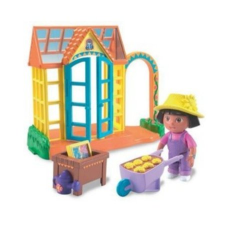 Nickelodeon Dora The Explorer Talking Greenhouse Playset & Figure