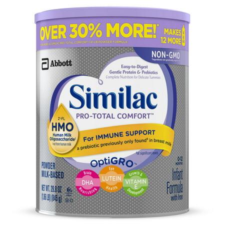 Similac Pro Total Comfort Non Gmo Infant Formula With Iron Powder 29 8oz Brickseek