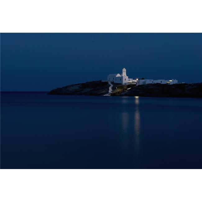 Posterazzi DPI12268425 The Chrysopiyi Monsastery in Southeastern Sifnos at Dusk - Sifnos Cyclades Greek Islands Greece Poster Print - 18 x 12 in. - image 1 de 1