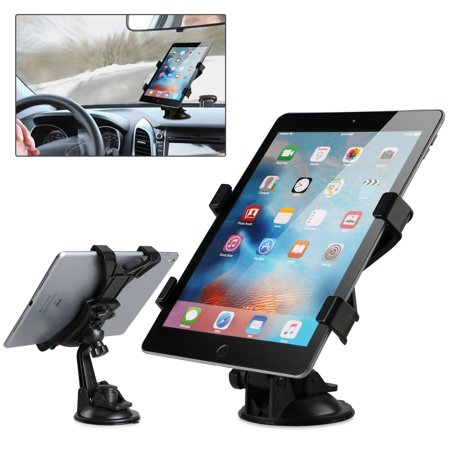 Car Dashboard Windshield Suction Cup Mount Holder Pad for SAM Galaxy Tab A 7.0/8.0/9.7/E 9.6/8.0/Pro 8.4/10.1/Note 10.1 Tablet 7-10