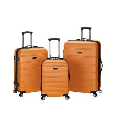 Melbourne 3 Pc Abs Luggage Set, Orange