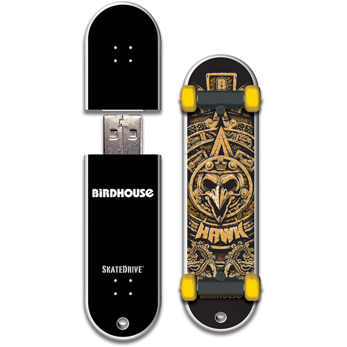 Action Sports Drives Birdhouse/Tony Hawk 16GB Hawk Mayan SkateDrive USB 2.0 Flash Drive
