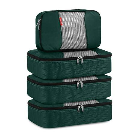 Gonex Packing Cubes Luggage Travel Organizers 3 Medium+1 Small Dark