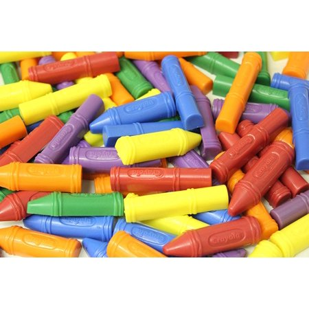 72 Crayon and Marker Shaped Math Counters - Mini Counting Manipulatives - Color Sorting - Early Education - Teacher Supply