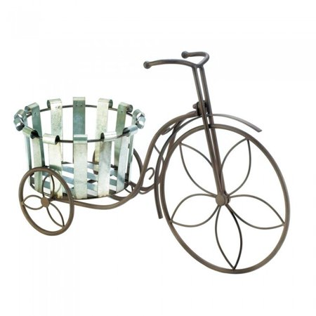 GALVANIZED BUCKET BIKE PLANT STAND ()