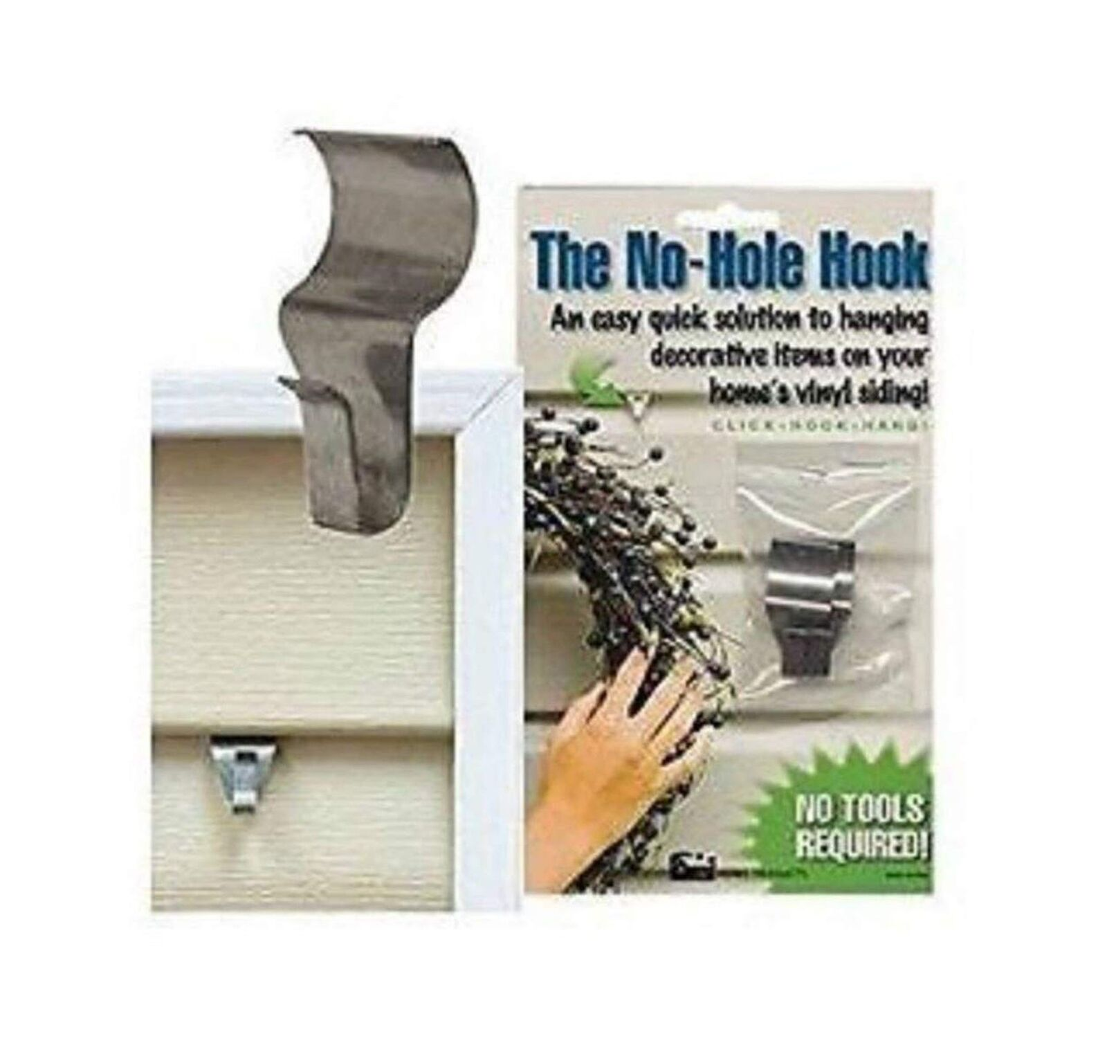 No Hole Hooks Vinyl Siding Hangers Low Profile 4pk