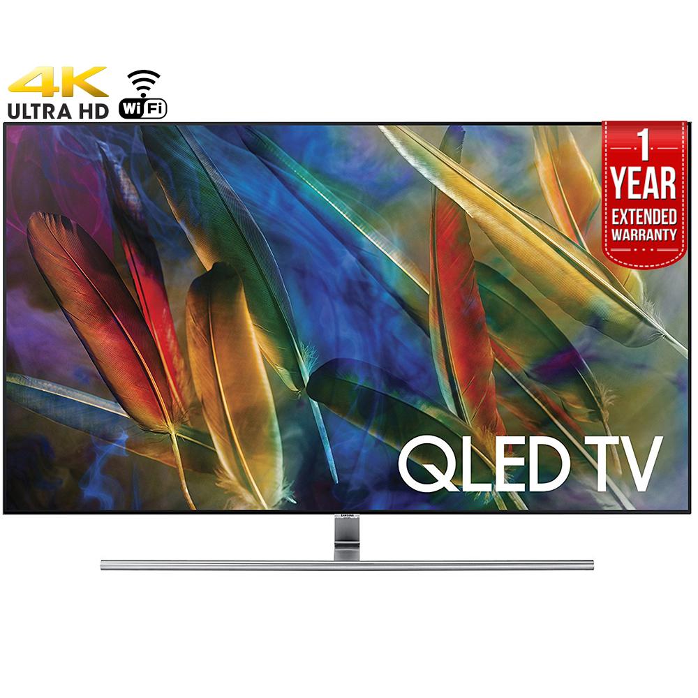 "Refurbished Samsung 75"" Class 4K (2160P) Smart QLED TV (QN75Q7FAMFXZA) + 1 Year Extended Warranty"