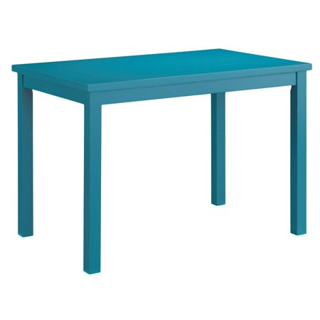 Dining table in teal for Teal dining room table