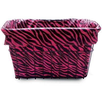 Hot Zebra Bicycle Basket Liner