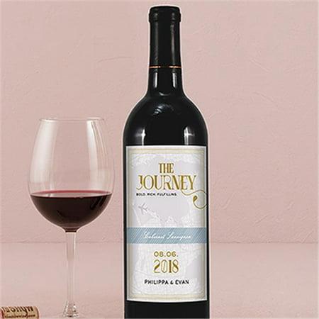 Wedding Star 1268-14-d01 Vintage Travel Wine Label - Journey - Pack of 24