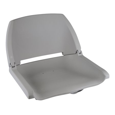 Wise 8WD138LS-717 Plastic Fold Down Boat Seat, Grey