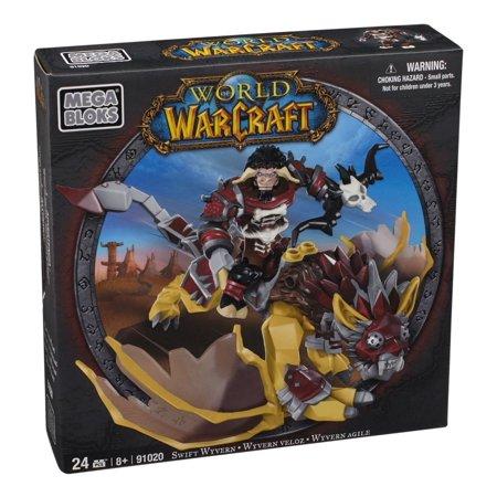 Mega Bloks World of Warcraft Swift Wyvern and Scarbuck (Horde Tauren Hunter) Play