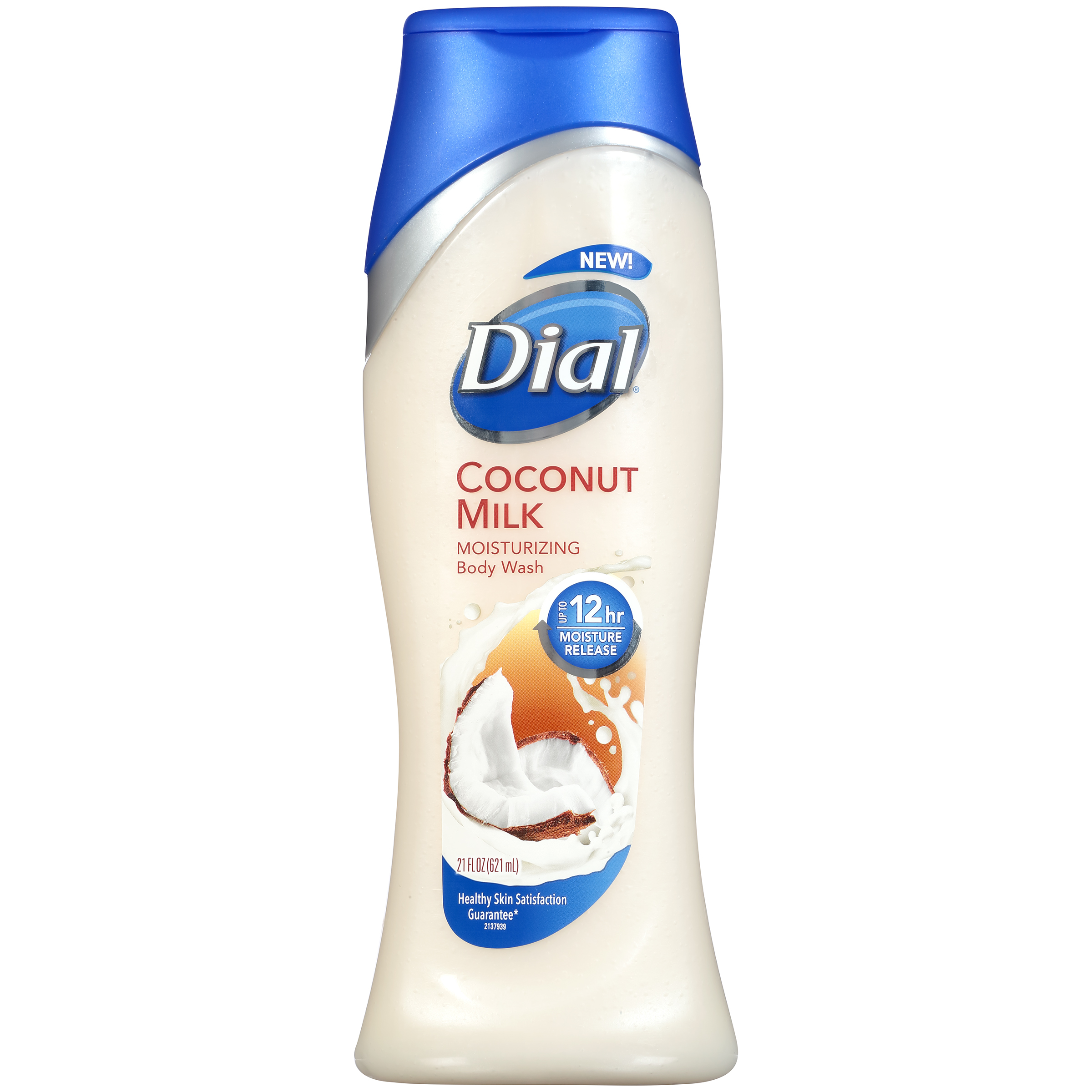 Dial Body Wash, Coconut Milk with Up to 12 Hour Moisture Release, 21 Fluid Ounces