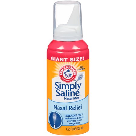 Arm & Hammer Simply Saline Nasal Relief Nasal Mist 4.25 Fl Oz Can (Saline Spray)