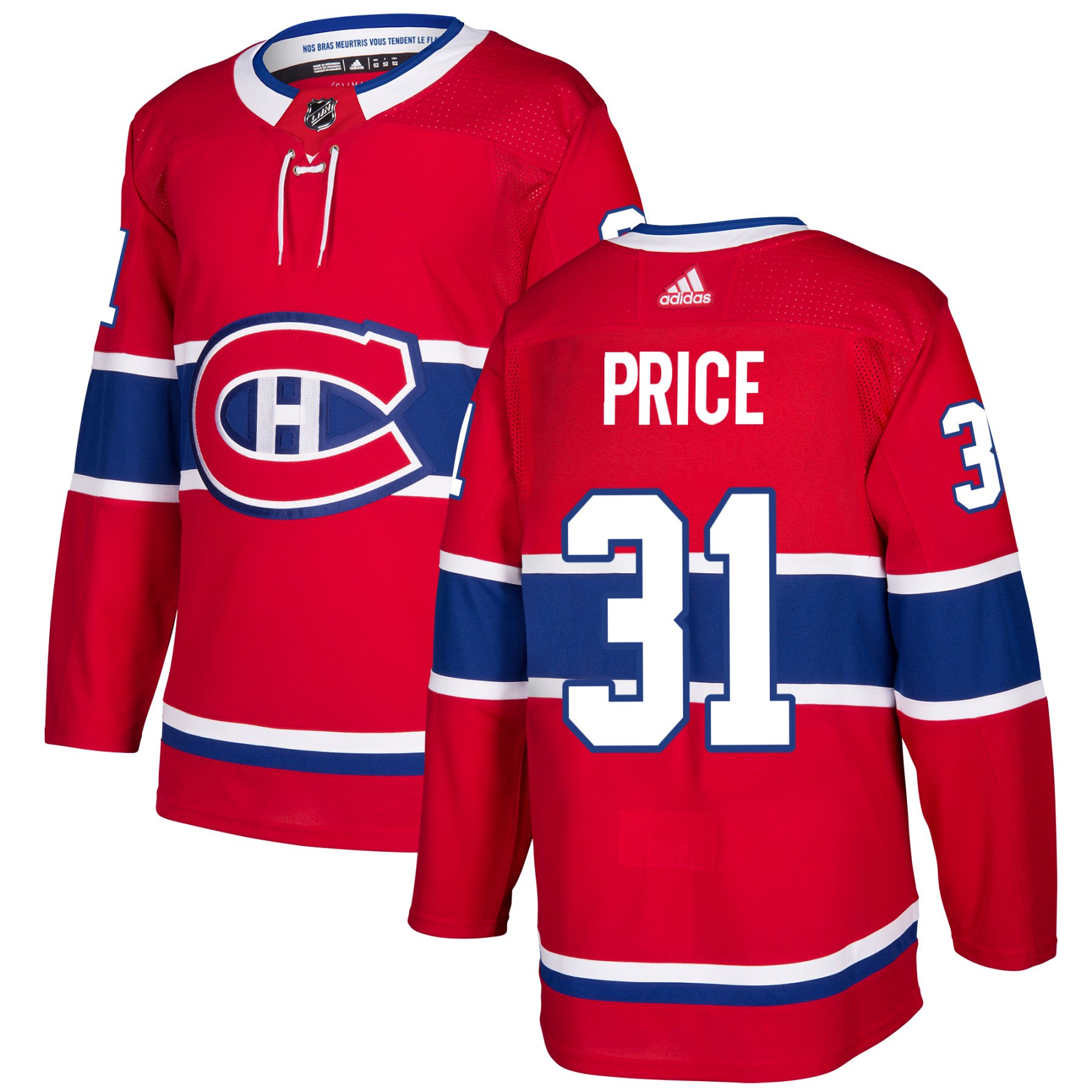ba9382c51fb Carey Price Montreal Canadiens adidas NHL Authentic Pro Home Jersey - Pro  Stitched