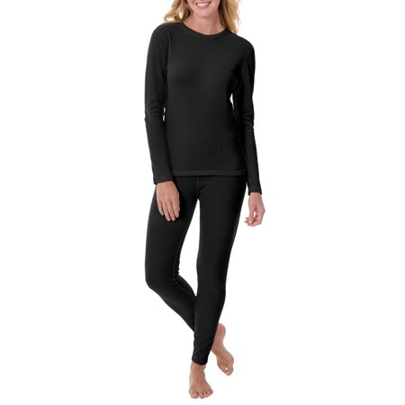 Womens Fleeced Lined Thermal Top and Pant -2Piece Set