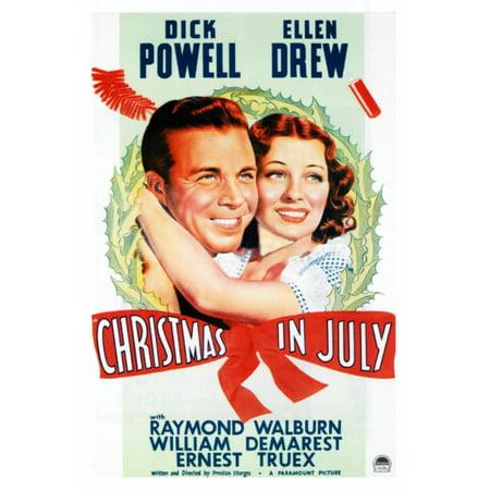 Christmas In July L-R Dick Powell Ellen Drew On Poster Art 1940 Movie Poster Masterprint