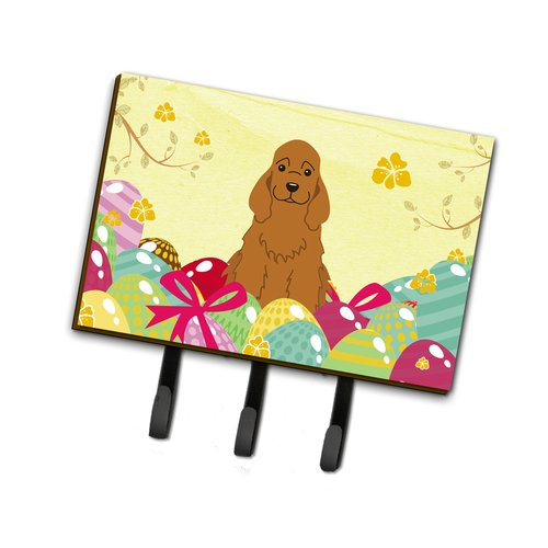 The Holiday Aisle Easter Eggs Cocker Spaniel Leash or Key Holder