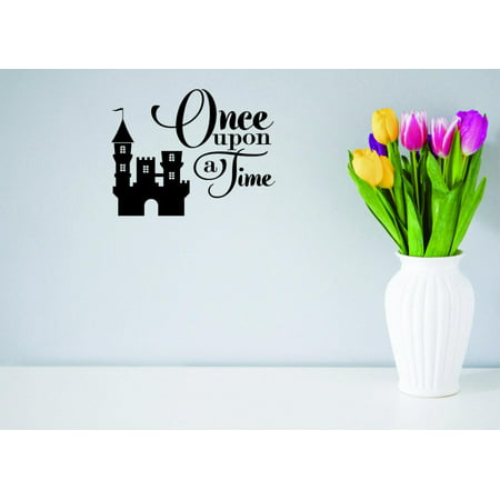 Custom Wall Decal Sticker - Once Upon A Time Queen King Fairy Tale Castle Prince Princess LoveHome Decor - Fairy Tale Princess Sticker Sheets