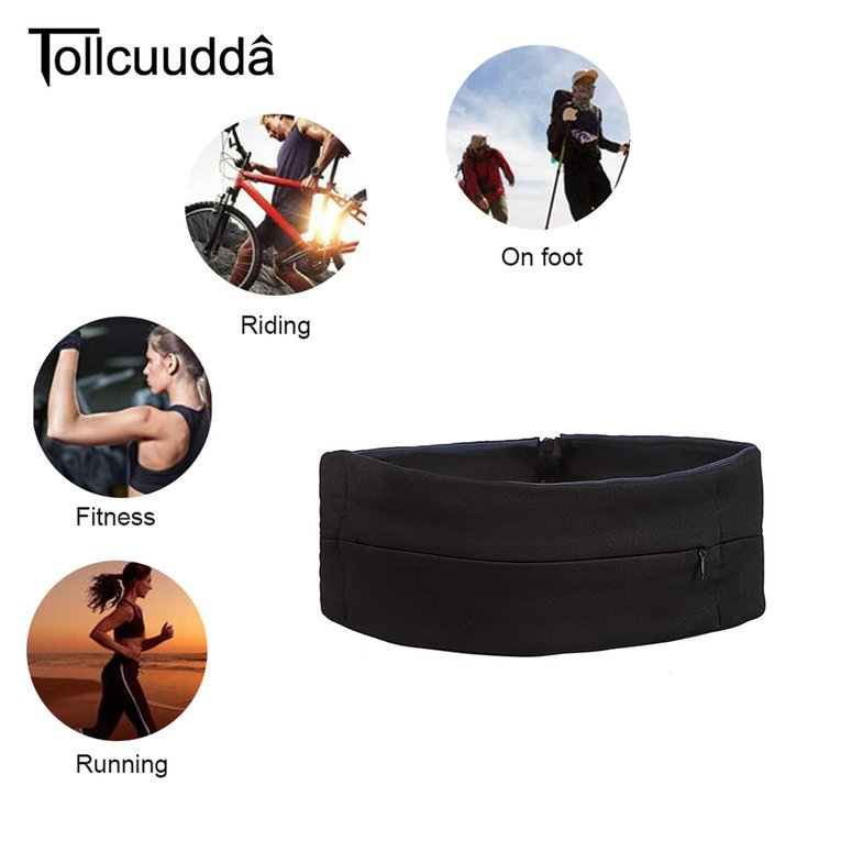 Tollcuudda Multifunctional Men Women Sport Running Cycling Waist Bag Portable Anti-Theft Travel Jogging Waist Belt