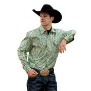 Cinch Western Shirt Mens L/S Modern Snap Hexagon Yellow MTW1311010