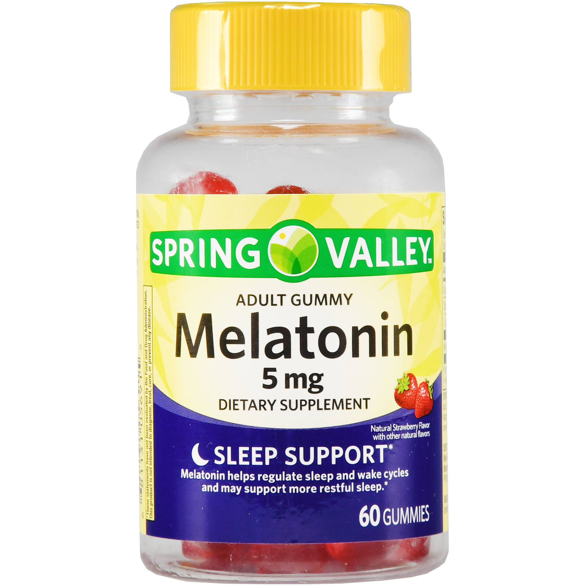 Spring Valley Adult Gummy Melatonin, 5mg, 60 count