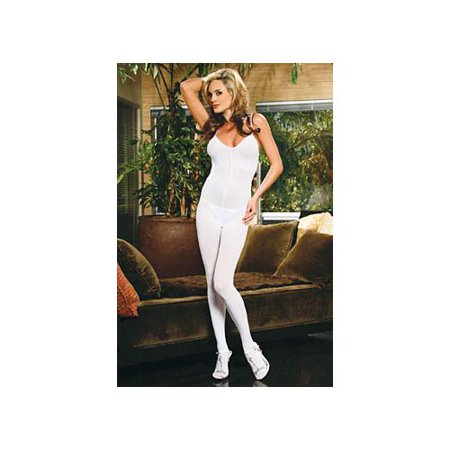 White Opaque Stockings (Elegant Moments Sensual Opaque Body Stocking 1601)