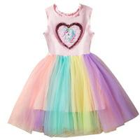KABOER Kids Girls Party Unicorn Heart Sleeveless Tutu Tulle Rainbow Fancy Dress Costume