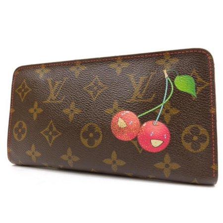 Louis Vuitton Monogram Cherry Murakami Zippy Wallet Zip Around 234387