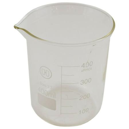 Low Form Glass Beaker - 400 mL Beaker Low Form Glass