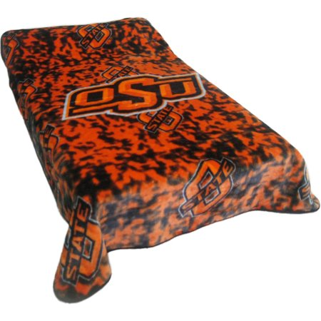 "Image of College Covers Fan Shop Throws Oklahoma State Cowboys 63"" x 86"" Soft Raschel Throw Blanket"