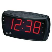 Supersonic AM/FM Alarm Clock Radio with Jumbo Digital Display