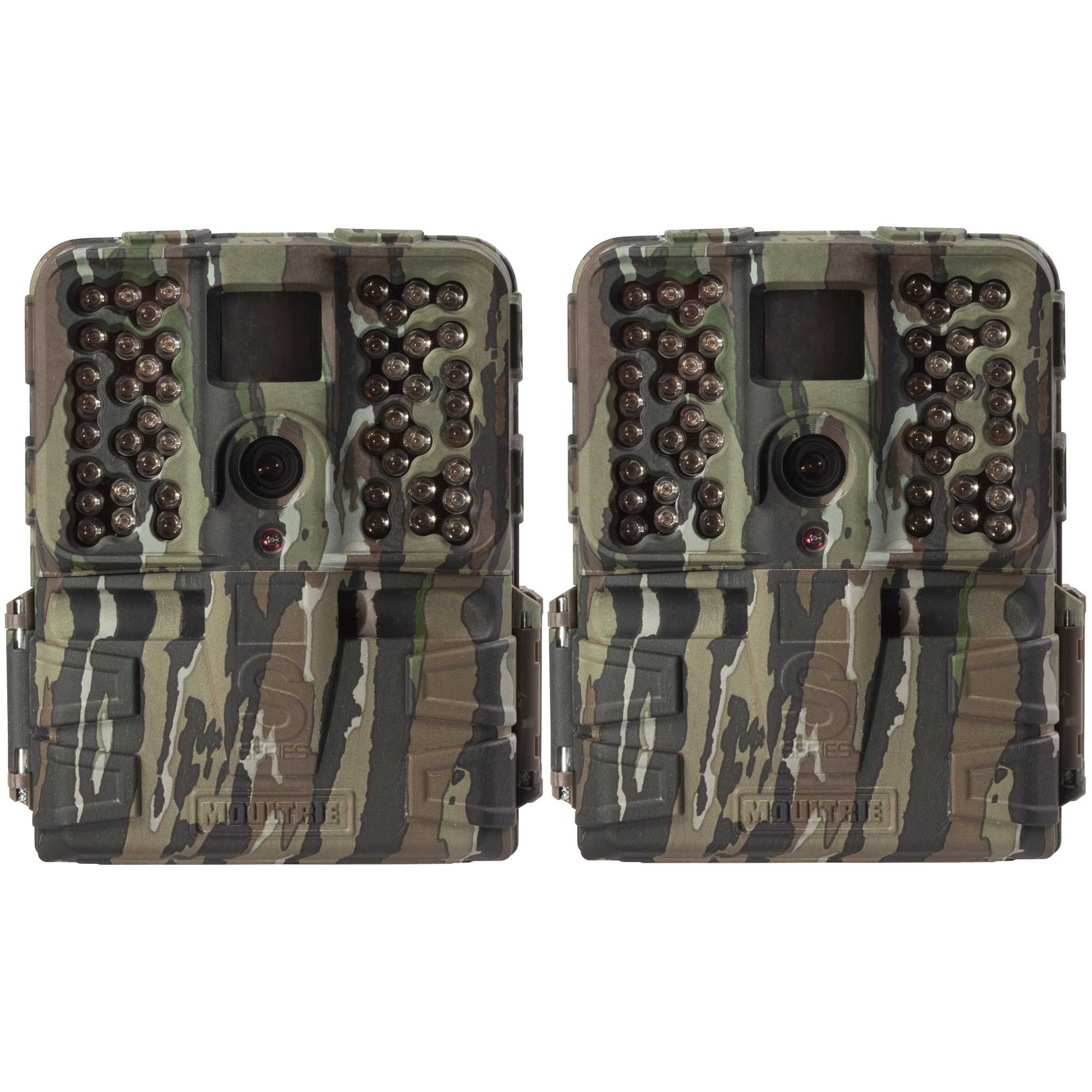 Moultrie S-50i 20MP 80' FHD Video No Glow Infrared Game Trail Camera (2 Pack)