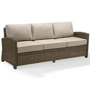 Crosley Furniture Bradenton Sofa with Navy Cushions