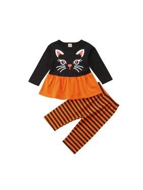c694025a26d Product Image 2PCS Toddler Kids Baby Girl Halloween Dress Top Tutu Dress+Pants  Outfits Costume