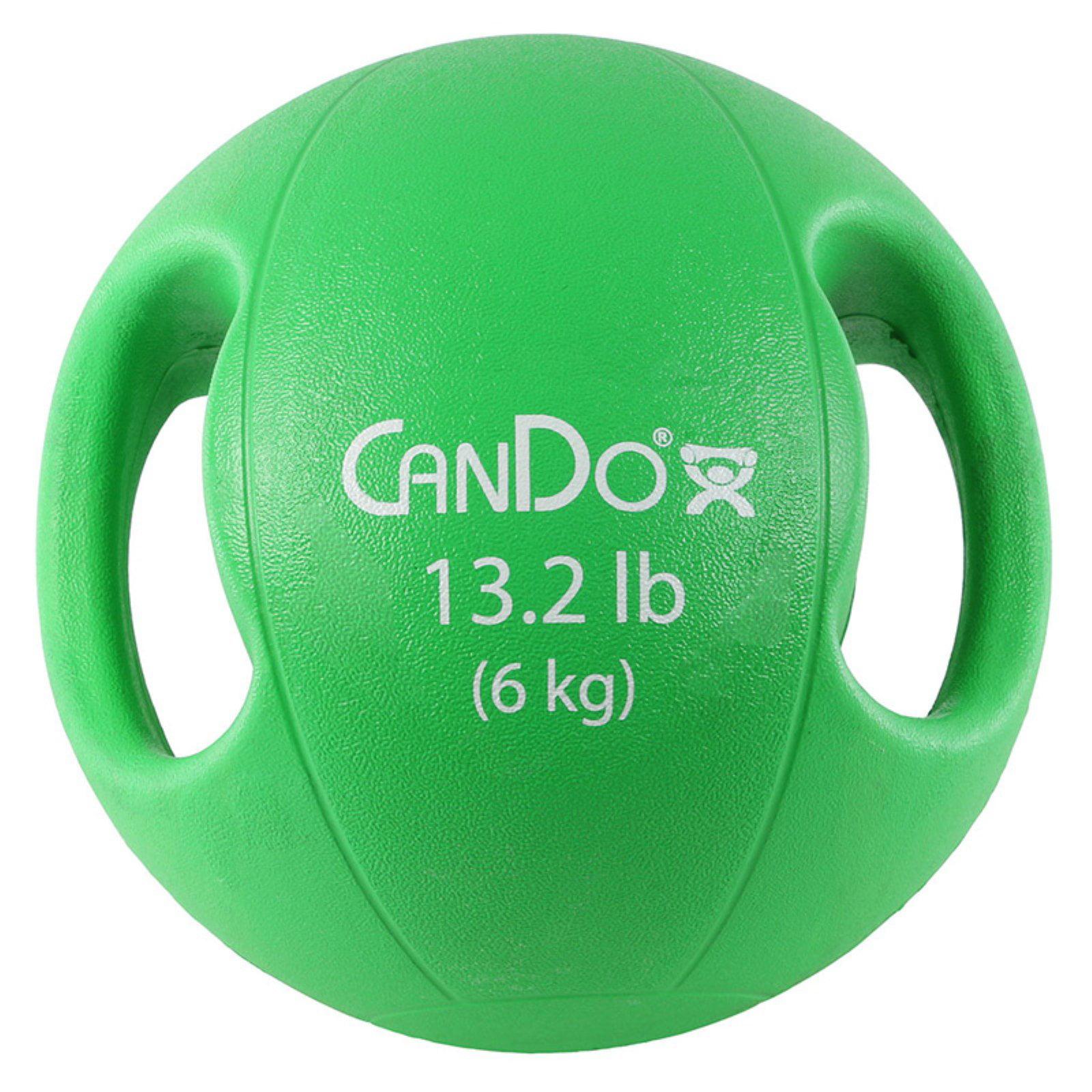 CanDo Molded Dual Handle Medicine Ball