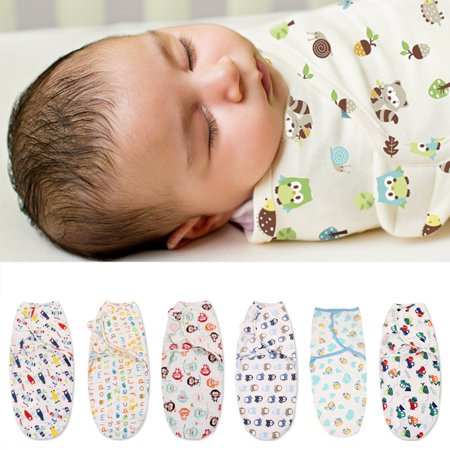 Baby Infant Swaddle Wrap Blanket Sleeping Bag For 0-6 Months
