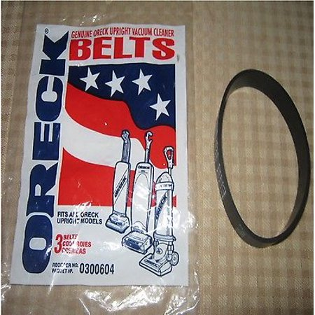 Genuine Oreck Smooth Vacuum Cleaner Belts - Fit All Uprights - Part # XL 0300604 [2 Belts] - Oreck Vacuum Cleaner Parts