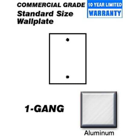 Aluminum A-arm Skid Plates (Leviton 83014 Wallplate 1-Gang Blank Standard Size Aluminum -)