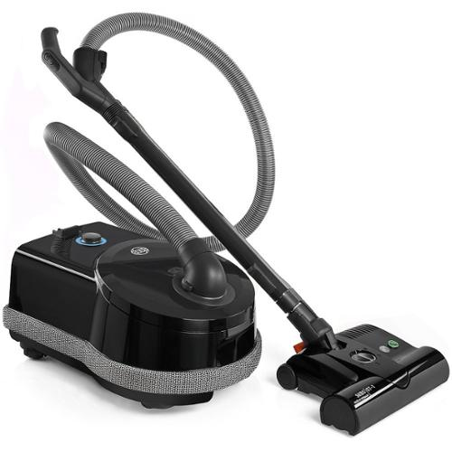 Sebo Airbelt D4 Black Premium Canister Vacuum Cleaner with ET-1 Powerhead and Bare Floor Brush