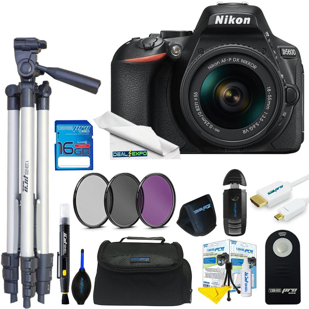 Nikon D5600 DSLR Camera with 18-55mm Lens + Expo Basic Kit