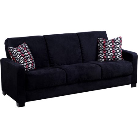 Handy Living Convert A Couch Full Sleeper Sofa With Geo Square Pillows